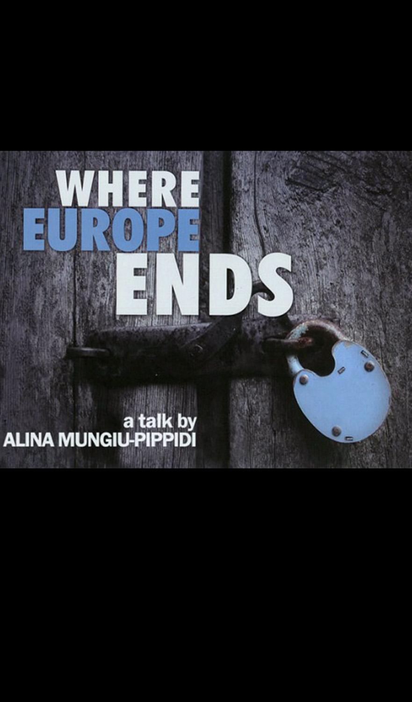 where Europe Ends de Sinișa Dragin, Alina Mungiu-Pippidi - CINEPUB