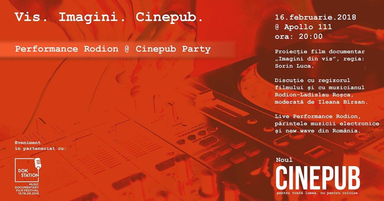 Performance Rodion - Lansare CINEPUB