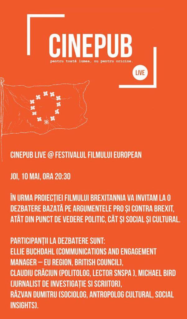 Festivalul Filmului European-dezbatere Brexit