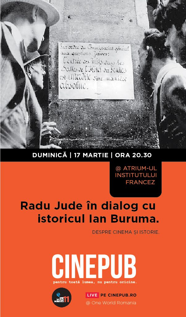 Cinepub LIVE - Radu Jude in dialog cu Ian Buruma