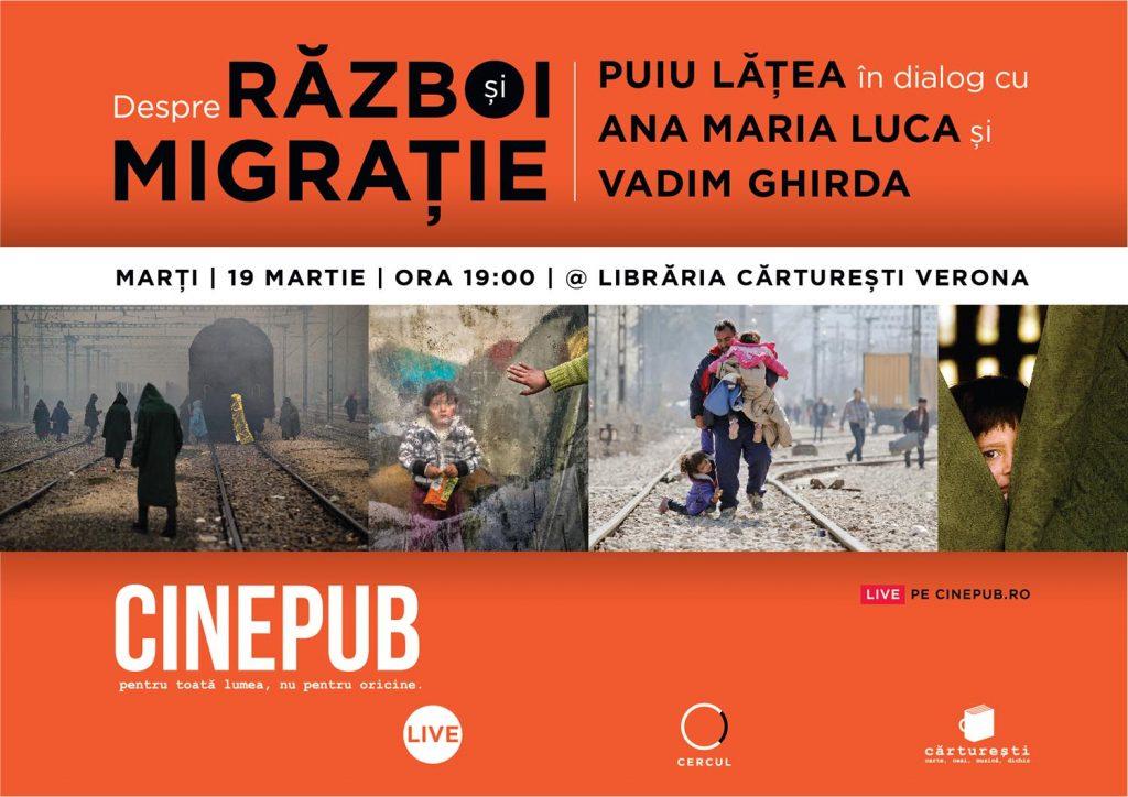 CINEPUB Live - Cercul Puiu Lățea, Ana Maria Luca și Vadim Ghirda