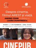 Laura Dumitrescu în dialog cu Andrei Cohn - Cinema, filmul AREST și viață   CINEPUB Live & CERCUL