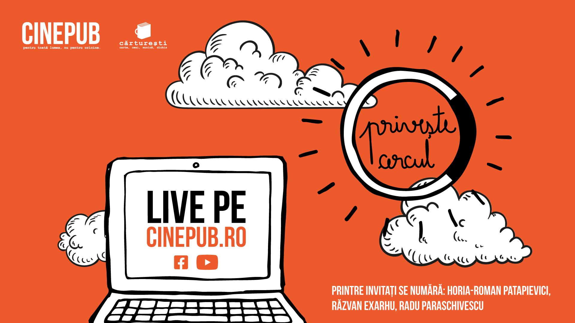 CINEPUB priveste Cercul - parteneriat Carturesti - discutii care conteaza